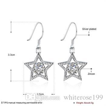 Wholesale - lowest price Christmas gift 925 Sterling Silver Fashion Earrings E99