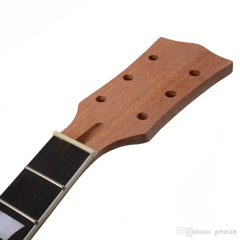 22 Fret Guitar Neck open sattin LP Mahogany Rosewood fingerboard sector and binding Inlay for LP Electric guitar neck replacement.