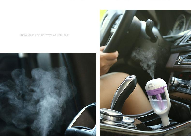 Nanum Car Humidifier Air Mist Diffuser Purifier Car Humidifiers Air Cleaning Mini Charging Portable Water Bottle Steam Humidifier Wholesale