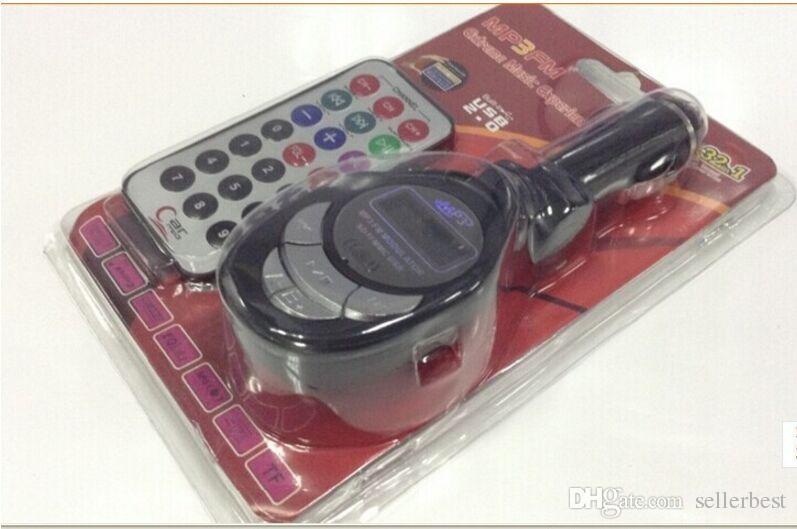 Con scatola al minuto PIPA 12 / 24V Car 32 in 1 MP3 Player Modulatore di trasmettitore radio FM wireless con USB 2.0 SD MMC Slot schede Real Stock Remote C