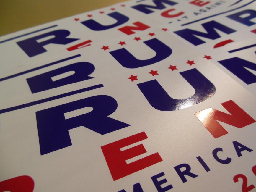 New Design Car Decals Donald Trump for President Make America Great Again Bumper Sticker Exterior Accessories 76*229mm