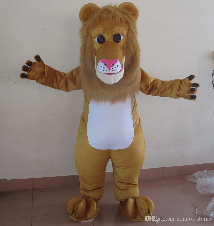 SX0725 100% real picture brand new lion mascot costume with furry head for  adult to wear for sale