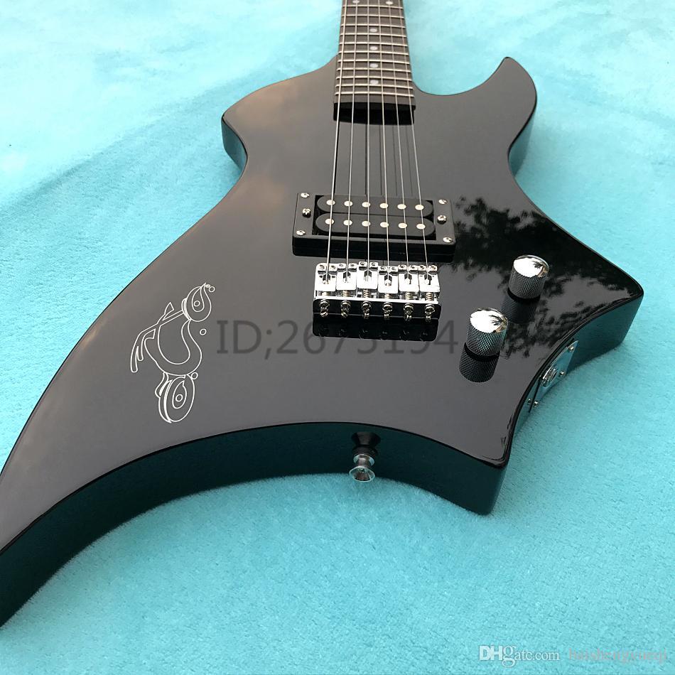 Caldo!!! Consegna gratuita, piccolo mostro, chitarra elettrica, corpo di Paulownia, fabbrica di manici in acero, chitarra elettrica personalizzata, basso elettrico