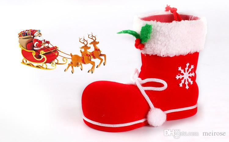 Christmas Stocking Bags Candy Gift Bag Xmas wedding Party Supplies hot sale Christmas Decorations Socks Candy Bags Product Code : 90 - 2003