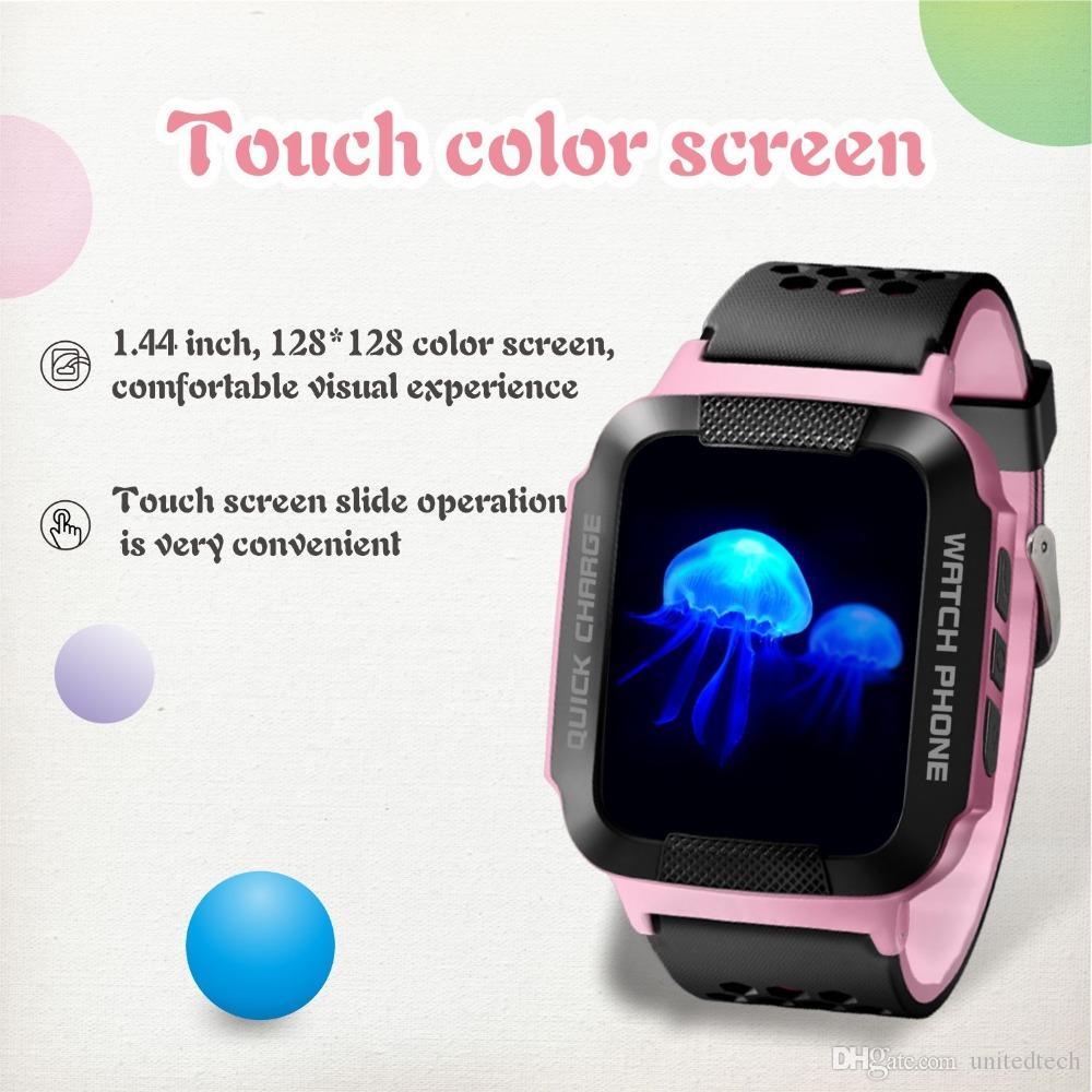 GPS Bebek Izci Akıllı Izle desteği GSM sim kart C1 1.44 '' Kare Ekran Çocuk Smartwatch SOS Android IOS P için Çağrı Anti-kayıp