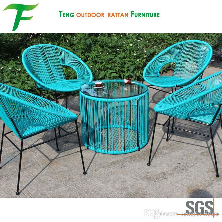 Compre Color Turquesa Muebles De Jardín Al Aire Libre En Polvo De ...