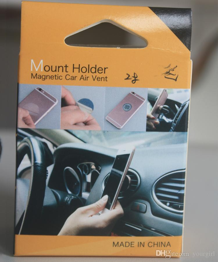 Car Mount Air Vent Magnetic Universal Cell Phone Holder For Moblie Phone i Phone 6S 7 Plus One Step Mounting best seller