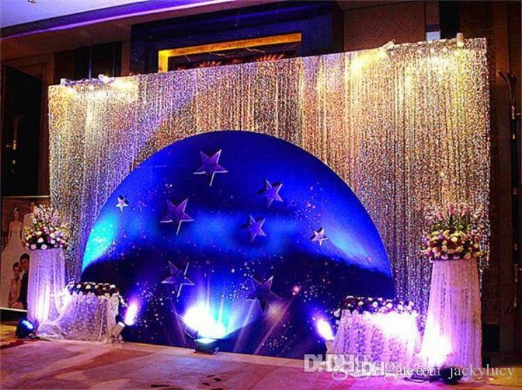 Upscale Sequins Fabric Wedding Backdrop Decoration Gauze Curtain Fashion Table Cloth For Wedding Site Layout Supplies