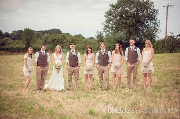 Nouveau mode Brown tweed Gilets Laine Chevrons Style britannique fait sur mesure Mens costume tailleur slim fit Blazer costumes de mariage pour hommes P: 2
