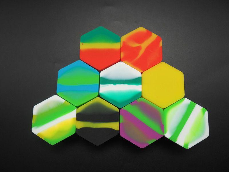 En ucuz altıgen şekli yapışmaz silikon kavanoz DAB balmumu buharlaştırıcı yağ konteyner 26 ml