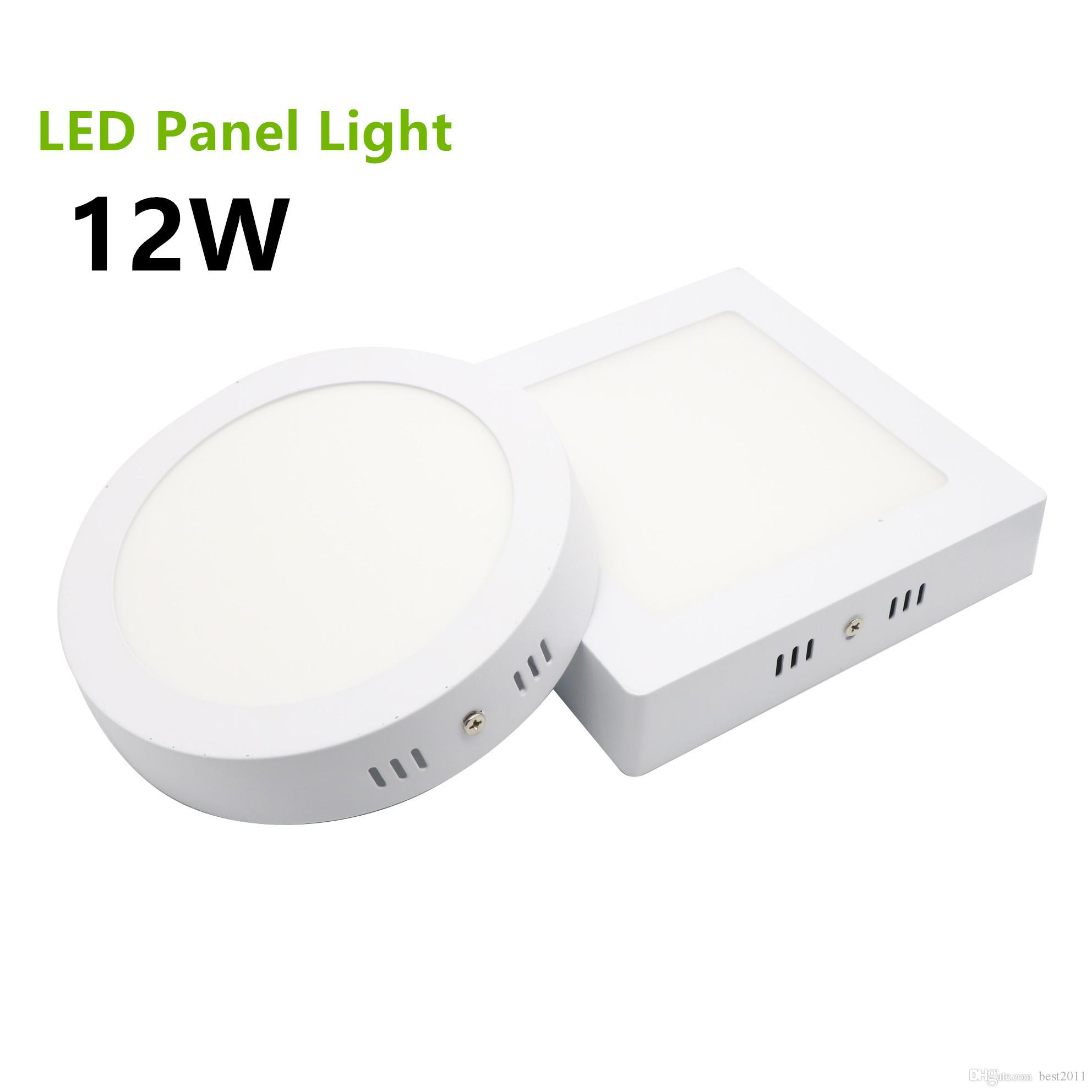2018 2835 smd surface mounted led panel light 12w round square led ceiling lights led downlight. Black Bedroom Furniture Sets. Home Design Ideas