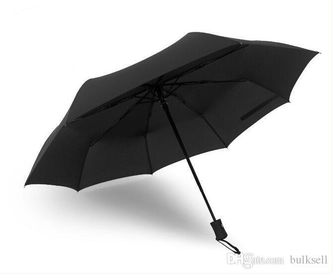 There Folding Automatic Umbrella For Business Men Women Cars Male Rain Umbrellas With Cover Bigger 57x8K