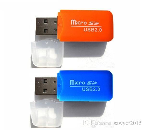 Alta velocidad USB2.0 Mini Micro SD T-Flash TF Adaptador de Lector de Tarjeta de Memoria USB 2 gb 4 gb 8 gb 16 gb 32 gb 64 gb Tarjeta TF