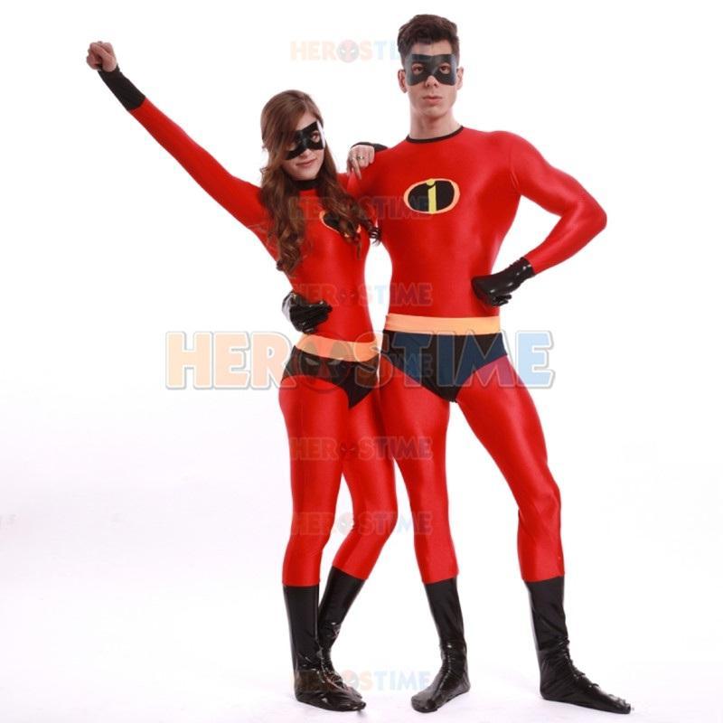 High Quality Adult Mens/Women Halloween Incredible Superhero ...
