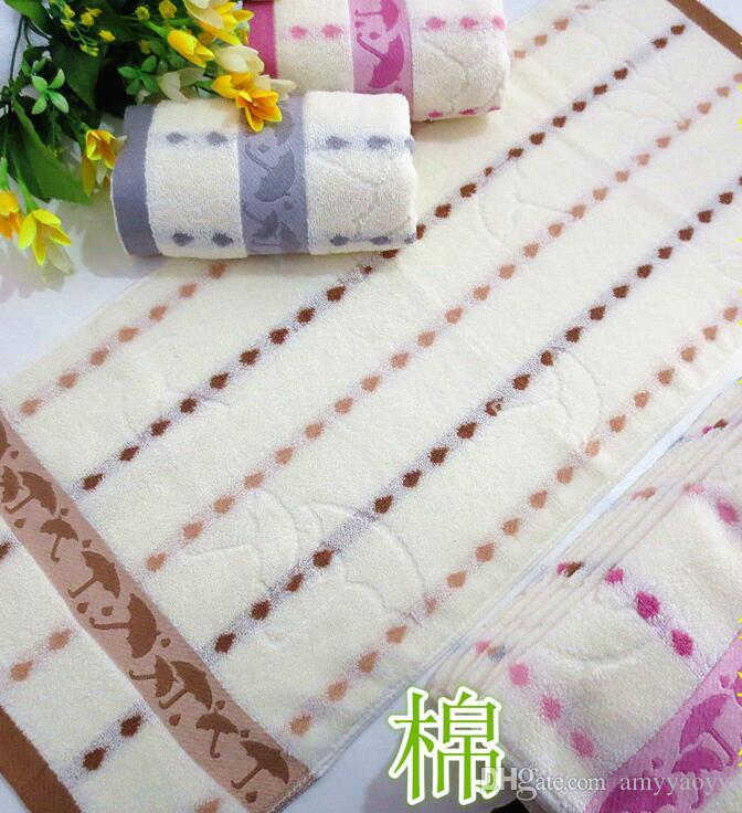 40% Cotton Towels Flower Pattern Hand Towel Bright Color Bath Towel New Patterned Bath Towels
