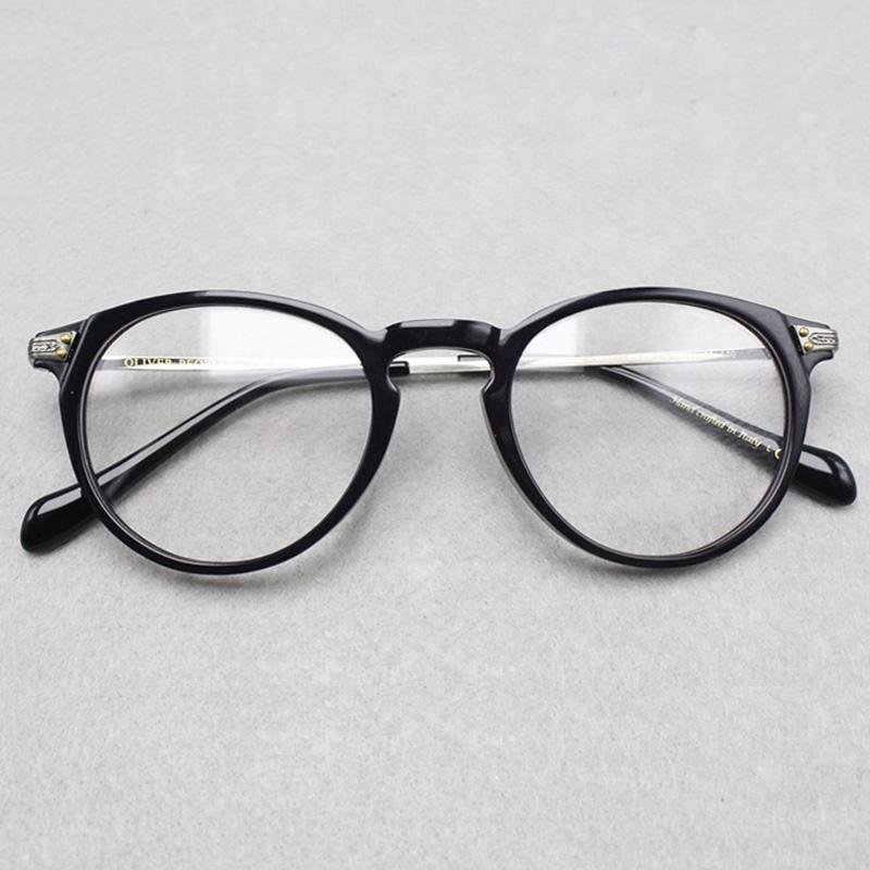 2017 brand designer oliver peoples women eyeglasses frame optical round ov5326u elins round glasses prescription eyewear for men men eyeglasses frames women - White Frame Eyeglasses