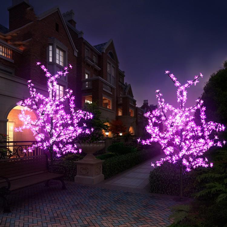 LED Cherry Blossom Árvore Luz LED Lâmpadas 1.8 m de Altura 110/220 VAC Sete Cores para a Opção de Uso Ao Ar Livre À Prova de Chuva