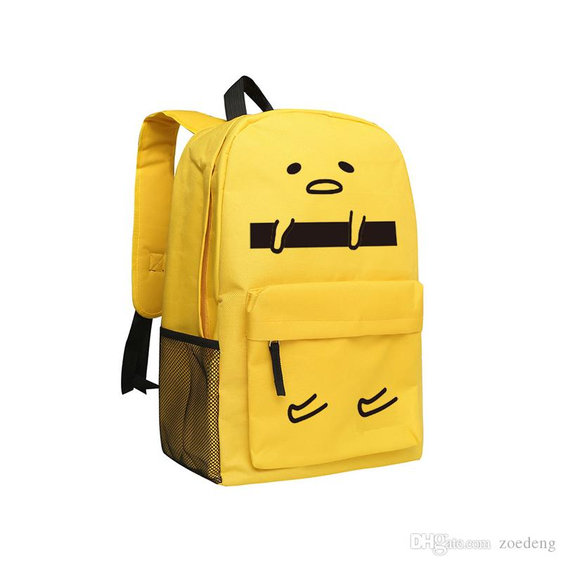 Gudetama Backpacks for Children Cute School Bag For Teenagers Gudetama Backpack Boys and Girls Anime Shoulder Bags Students Mochila