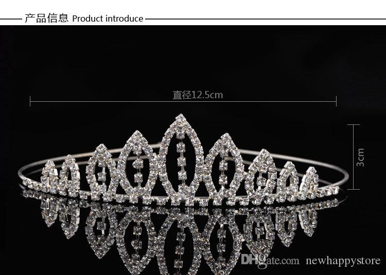 Fashionable Clear Crystal Bridal Crown Tiara White Headband Wedding Party Hair Accessories For Bridal Cheap Hair Jewelry