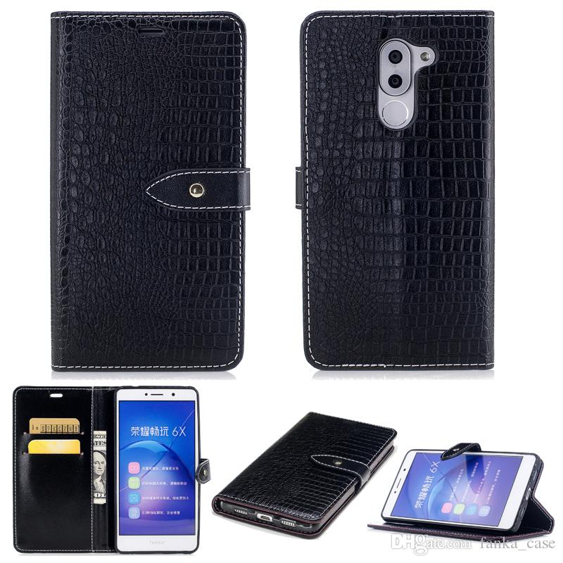 new arrival 87ce4 cedb4 Magnet Flip Cover For HuaWei honor 6X 6C Y7 Y7Prime Y5 2017 GR3 2017 P10  Wallet PU Leather Card Slot with Holder