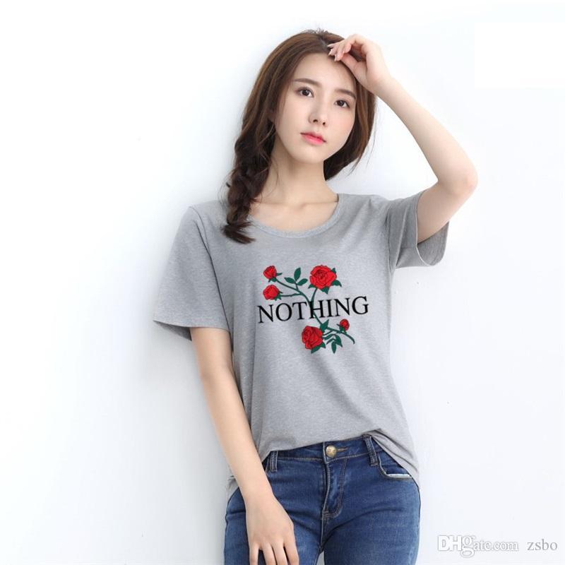 2017 Fashion Design Women T Shirt Fashion Clothes Rose N Pocket T Shirts  For Women Crop Tops Womens Clothing Harajuku Pugs T Shirt NV52 F Buy Tee  Shirts ... 9326a5e28