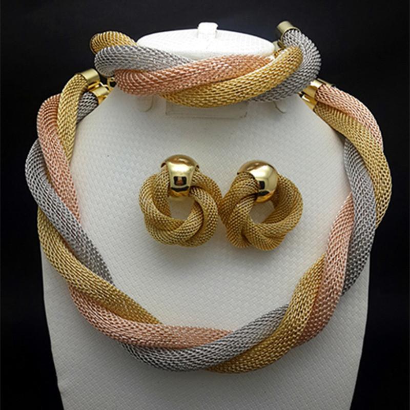 Fashion Wedding Women Jewelry Set Gold Plated Bridal Sets Turkish Jewelery Prom Dress Accessories Pearl