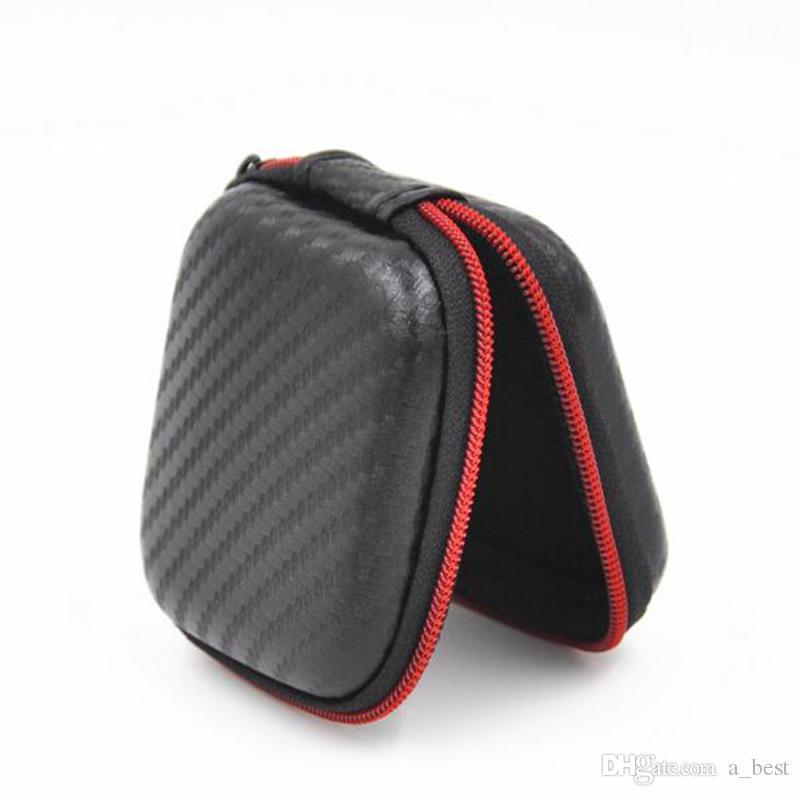 EVA Zipper Earphones Earbuds Custodie rigide Custodie il trasporto Custodie Pouch Supporto PU portatile scheda USB Cavo Auricolare stereo Bluetooth