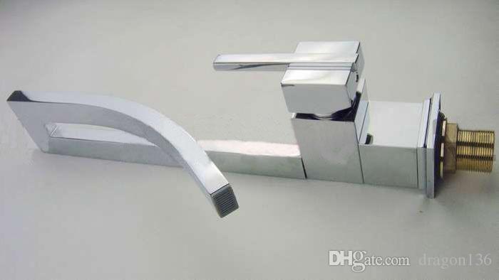 BLL Badezimmer Messing Wasserhahn Küche Kalt und Warm Spültischmischer Messing Chrom Waschbecken Wasserhahn NY02715