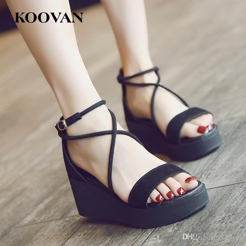 2a82196be2 High Quality Thick Bottom Gladiator Sandals Koovan Lazy Slipper ...