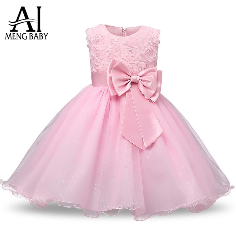 Compre Al Por Mayor Ai Meng Baby Pretty 1st Baby Girl Birthday Dress ...