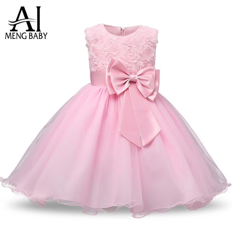 2018 Wholesale Ai Meng Baby Pretty 1st Baby Girl Birthday Dress ...