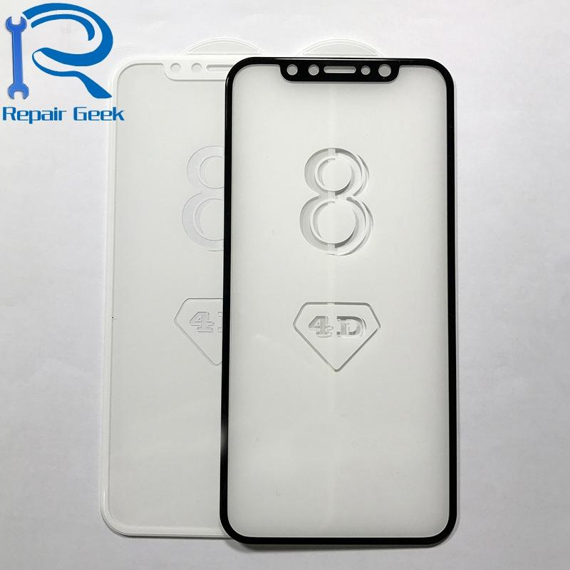New 3D 4D Curved Full Cover 9H Premium Real Proof Tempered Glass Film Guard Screen Protector for Apple iPhone X 10
