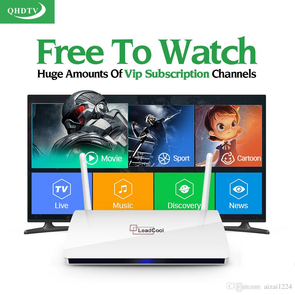 IPTV Streaming Box Leadcool Android Wifi 1G/8G Include 1100 Italy Portugal French Receiver Europe Arabic Channels Package