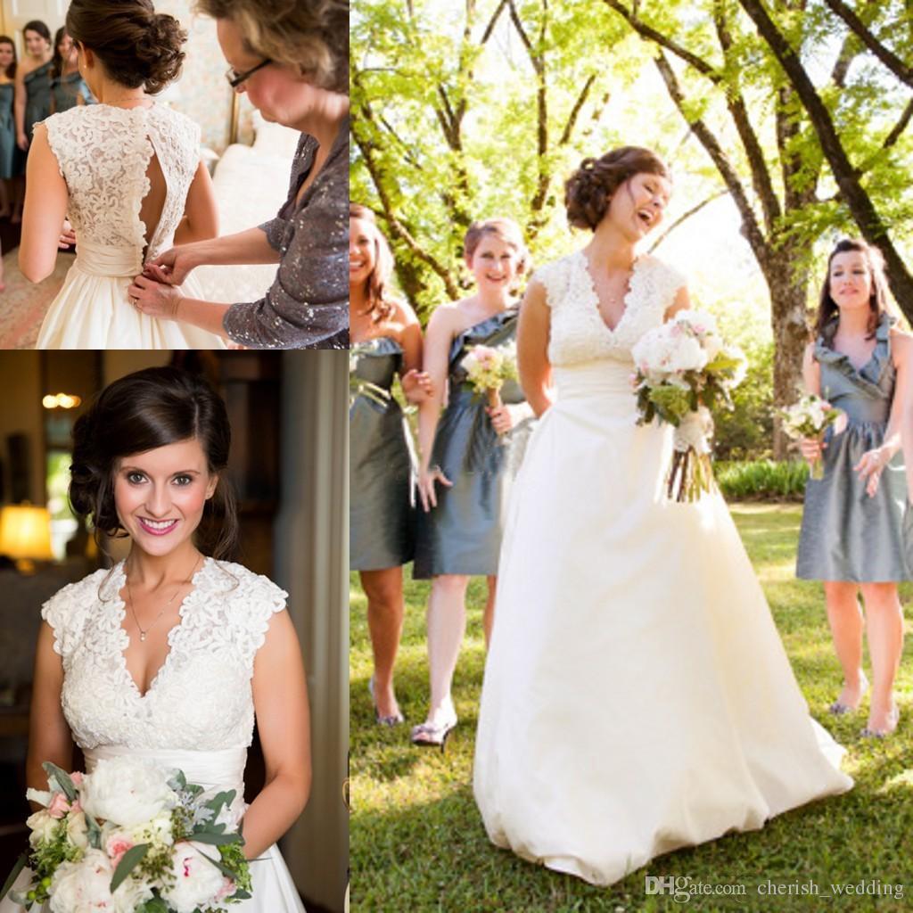 Discount Plus Size Taffeta Country Wedding Dresses 2018 Cheap Lace ...