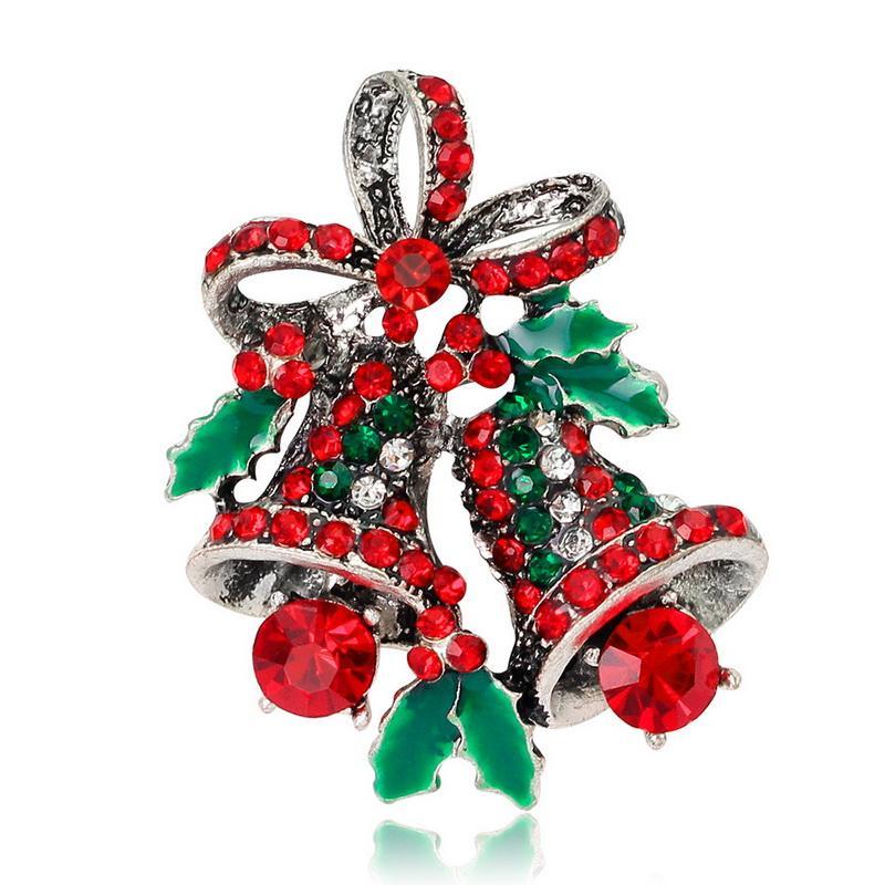 Pin Jewelry New Xmas Bell Gift Unisex con spilla in cristallo Pin Mostra il tuo collare Love Rinestone Bell Pin Teachers 'Day Gift