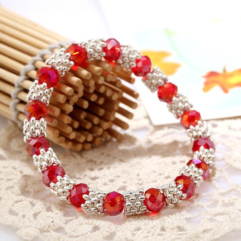 Радуга Шарм браслет имитация жемчужные браслеты для женщин снежинка звено цепи Кристалл партия ювелирные изделия браслеты браслеты браслеты