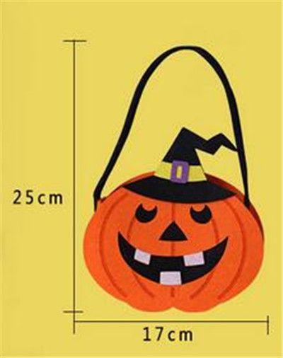 Zucca di Halloween Candy Bag Dolcetto Carino Sorriso Cesto Volto Regalo bambini Pouch Tote Bag Non tessuto Pail Puntelli KO89