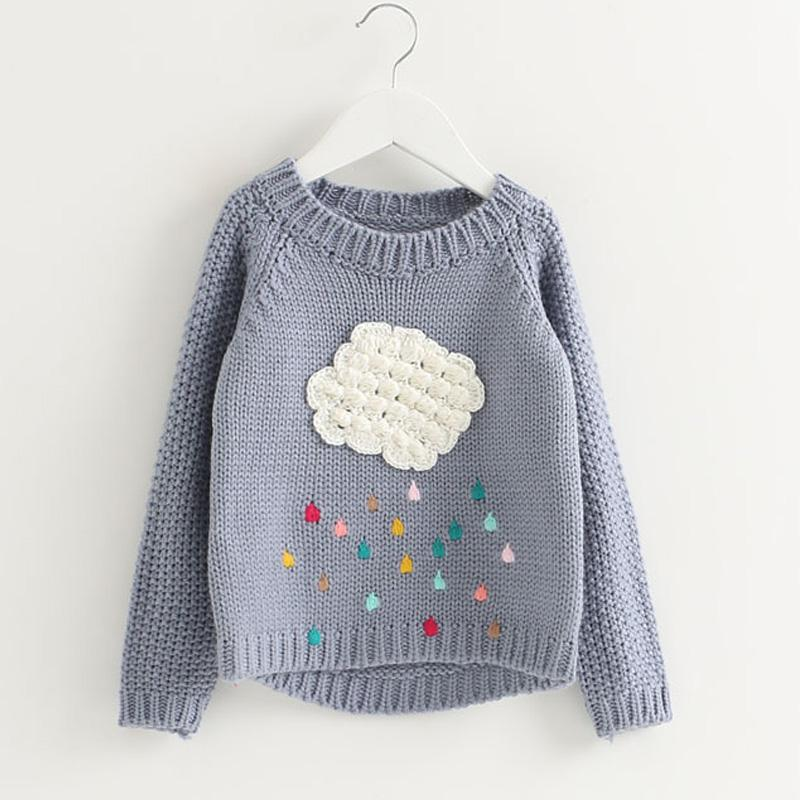 7ea9c4e18 New 2017 Fashion Winter Baby Girls Sweater Cartoon Cloud Kids ...