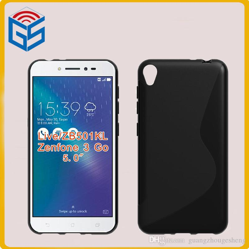 info for e3e49 b6c08 100pcs / lot soft tpu s line phone case for asus zenfone live zb501kl back  cover for zenfone 3 go free shipping