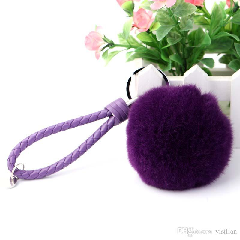 New arrival Weaving rope 8CM big hair ball pendant girls to send girl honey creative gift bag ornaments R250 Arts and Crafts