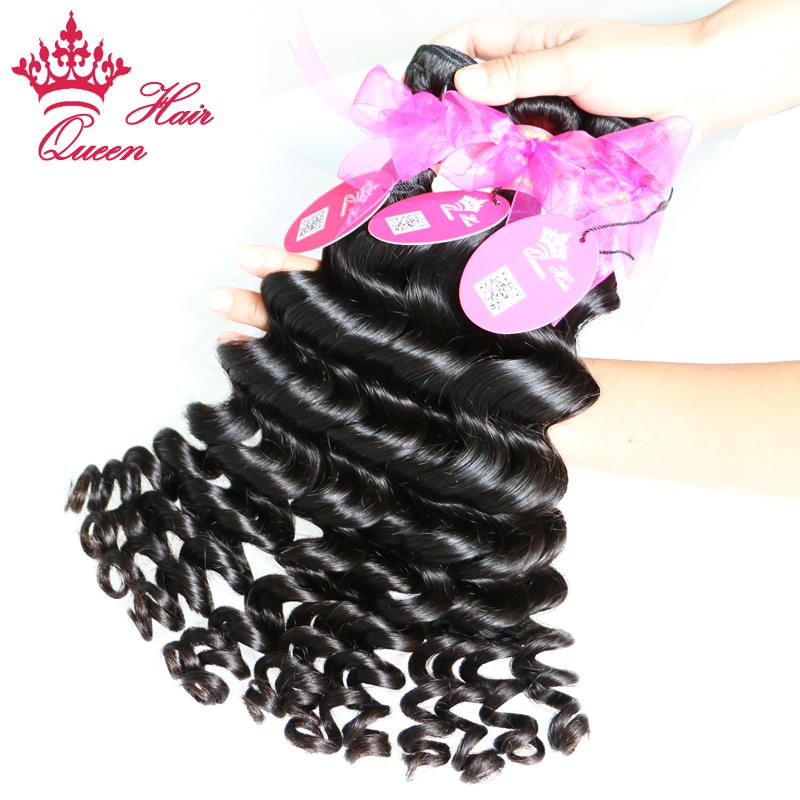 퀸 헤어 제품 100 % 브라질 처녀 머리 더 웨이브, 100 % 인간의 머리카락 / DHL 무료 배송
