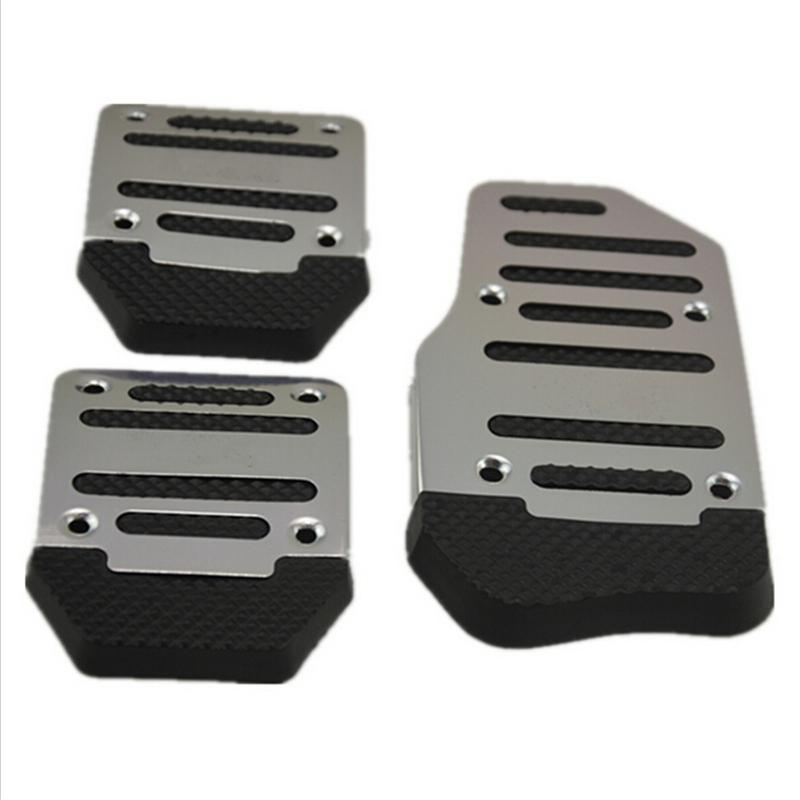 Aluminum Anti-slip Car Manual Transmission Red To Blue And Silver Cover Brake Clutch Pedal Accelerator