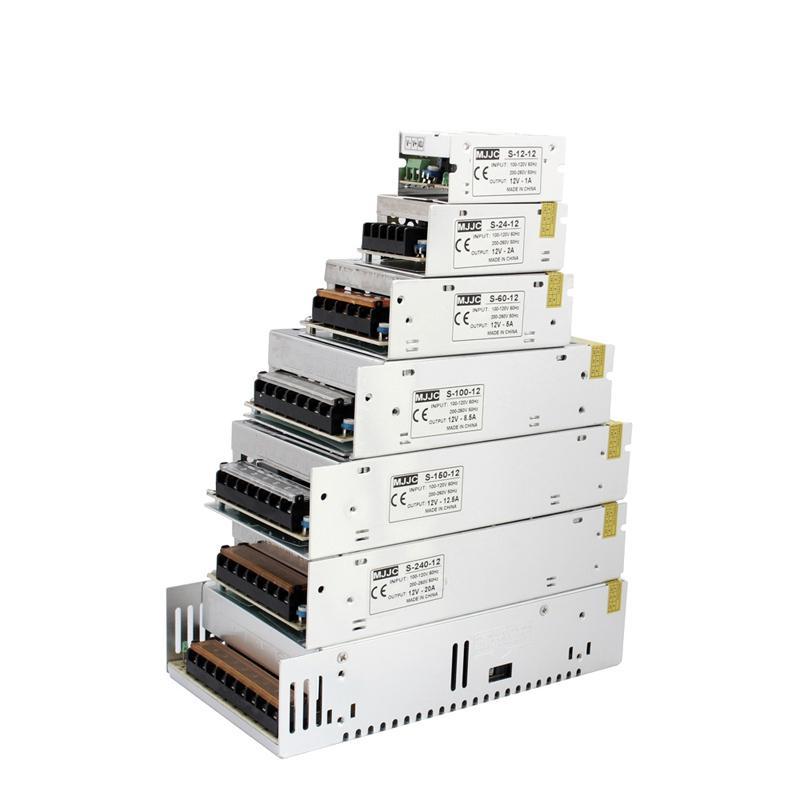 MJJC 12W 24W 60W 100W 120W 150W 200W 360W 400W LED-Schaltnetzteil 12 Volt 24V DC für 3528 5050 5630 3014 7020 LED-Lichtleisten