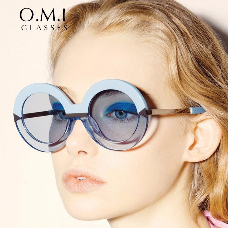 94aeb6283d Compre 2017 Nueva Llegada Ronda Flecha Gafas De Sol Vintage Poolside  Creeper Mar Azul Superstar Personalidad Gafas De Sol Om239 A $8.09 Del  Aomi2016 ...