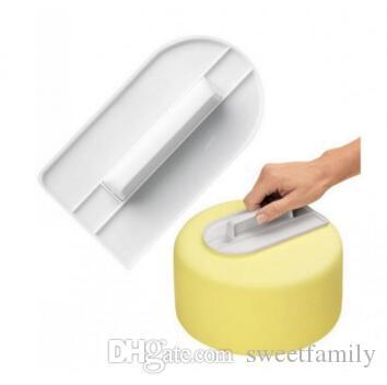 كعكة سلاسة تزيين أداة الملمع sugarcraft شارب حافة المطبخ فندان