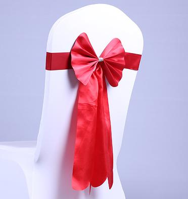 Free EMS Long Ribbon No need to Tie the Knot Wedding Silk Chair Cover Sashes Sash Party Banquet Decoration Decor Bow