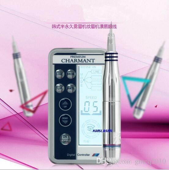 2016 Nouveau contour needle Cartridges digital permanent makeup Tattoo machine with LCD power micro needle machine