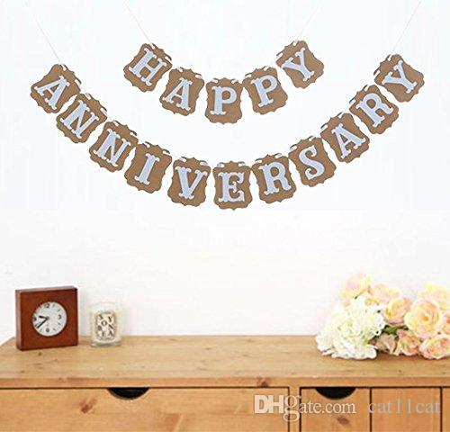 happy anniversary banner garland bunting sign party decoration photo