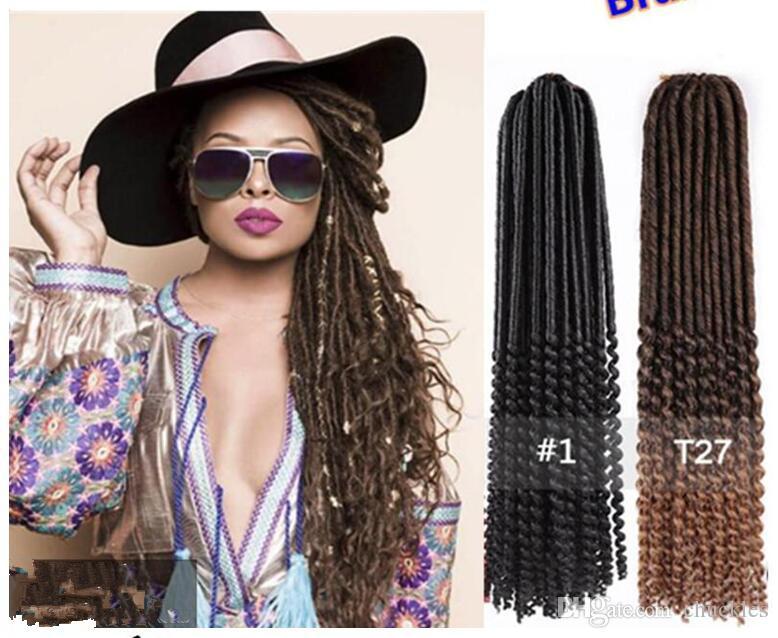 24inch Purple Havana Mambo Twist Faux Locs Crochet Hair Soft