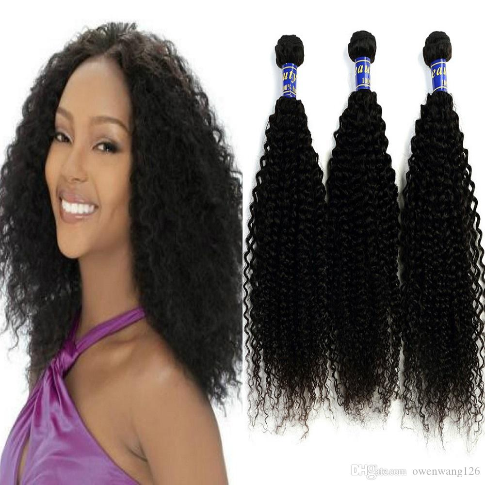 2018 8a Virgin Remy Hair Extensions Malaysian Kinky Curly 3 Bundles